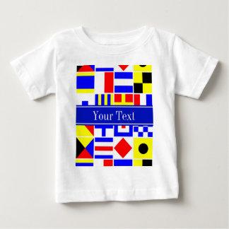 Colorful Nautical Signal Flags Royal Name Monogram Baby T-Shirt