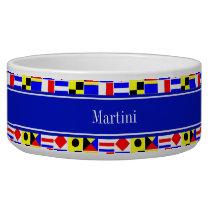 Colorful Nautical Signal Flags Royal Name Monogram Bowl