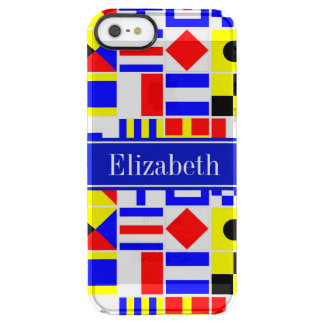 Colorful Nautical Signal Flags Royal Name Monogram Clear iPhone SE/5/5s Case