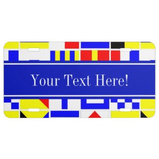 Colorful Nautical Signal Flags Royal Name Monogram License Plate