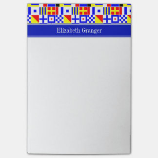Colorful Nautical Signal Flags Royal Name Monogram Post-it Notes
