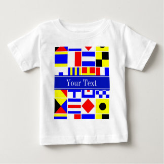 Colorful Nautical Signal Flags Royal Name Monogram Tee Shirt