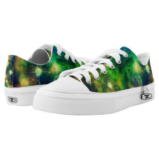 Colorful Nebula and Stars Low Top ZIPZ Printed Shoes