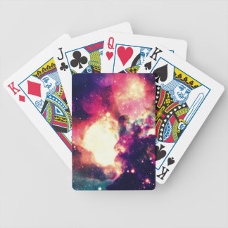 Colorful Nebula Bicycle Playing Cards