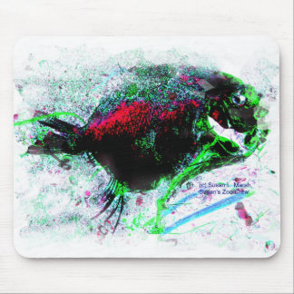 Colorful Negative Image of a Dried fish Mouse Pad