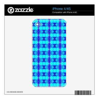 Colorful Neon Blue Royal Blue Tribal Pattern iPhone 4S Decals