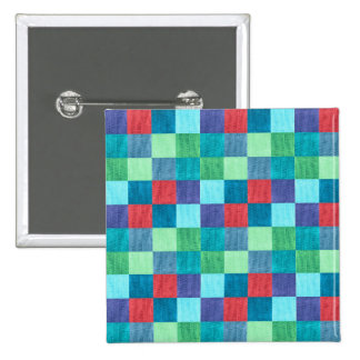 Colorful neon checkered pattern button
