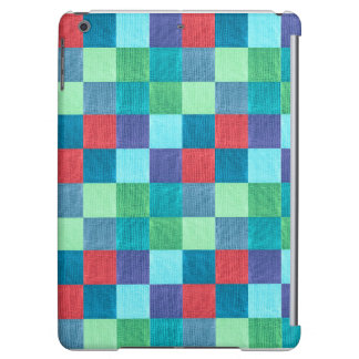Colorful neon checkered pattern iPad air cases