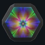 "Colorful Neon Daisy Black Bluetooth Speaker<br><div class=""desc"">colorful fractal pattern in multi colors.</div>"