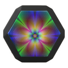 Colorful Neon Daisy Black Bluetooth Speaker at Zazzle