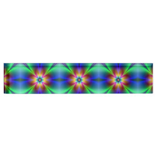 Colorful Neon Daisy Desk Name Plate