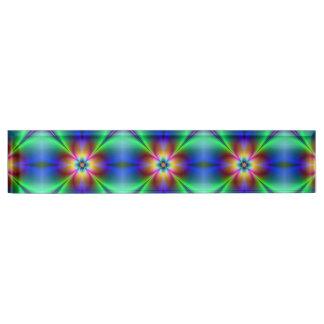 Colorful Neon Daisy Desk Name Plate