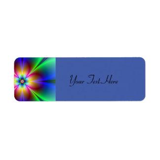 Colorful Neon Daisy Label