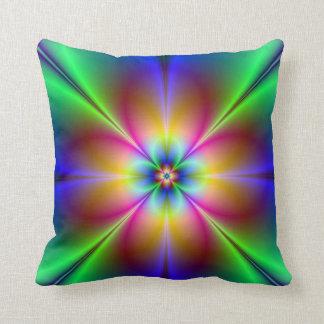 Colorful Neon Daisy Pillows