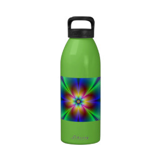 Colorful Neon Daisy Reusable Water Bottles