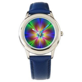 Colorful Neon Daisy Wristwatches