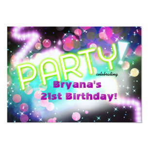 Rave Party Invitations Announcements Zazzle
