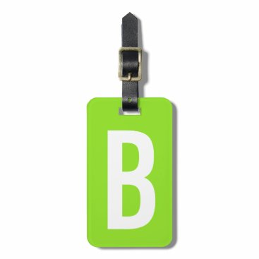 backgroundpatterns Colorful neon green monogram travel luggage tag