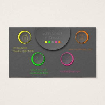 Professional Business Colorful Neon Professional Modern Business Card