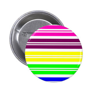 Colorful Neon Rainbow Stripes Vibrant Bold Pattern Pins