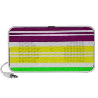 Colorful Neon Rainbow Stripes Vibrant Bold Pattern Speaker System