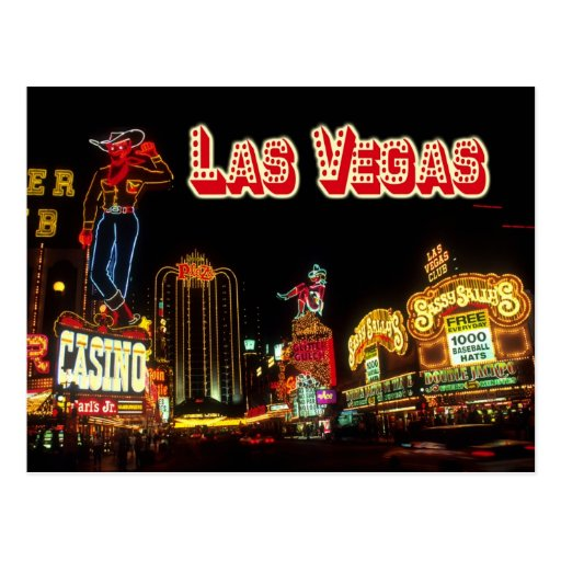 Colorful Neon Signs, Las Vegas, Nevada Post Card
