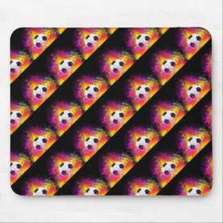Colorful Neon Soccer Ball Mouse Pad