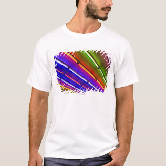 Colorful neon tubes at shop entrance T-Shirt