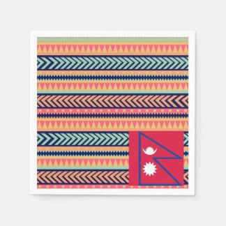Colorful Nepal Flag Box Napkin