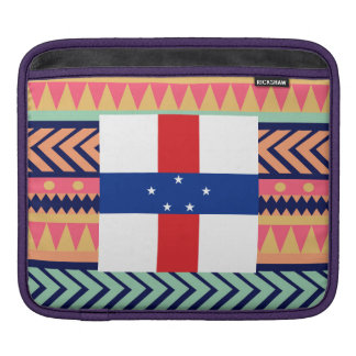 Colorful Netherlands Antilles Flag Box Sleeves For iPads