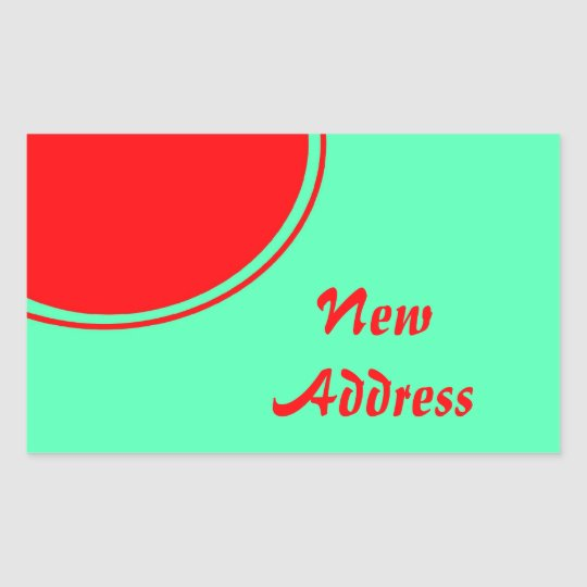 Colorful New Address Rectangular Sticker