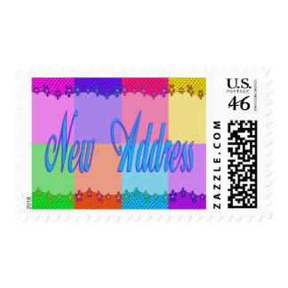 Colorful New Address Stamp