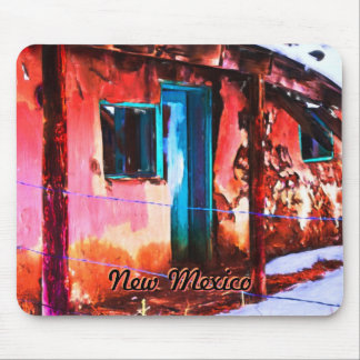 Colorful New Mexico Adobe Building Mousepad