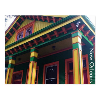 Colorful New Orleans House Postcard