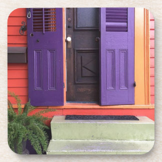 Colorful New Orleans Marigny House Drink Coaster