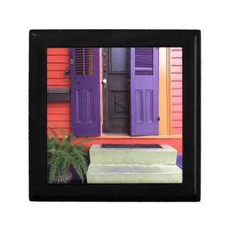Colorful New Orleans Marigny House Jewelry Box