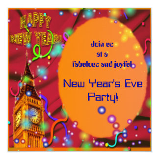 Colorful New Year's Eve Party Invitation