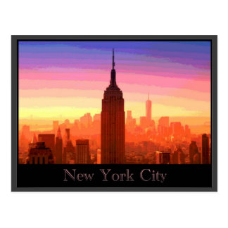 Colorful New York City Postcard