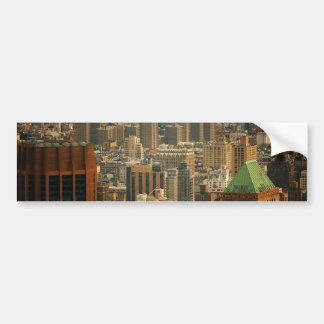 Colorful New York City Rooftops Bumper Sticker