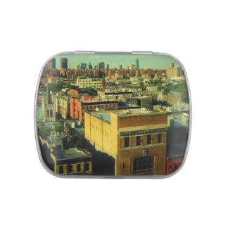 Colorful New York City Skyline Candy Tin