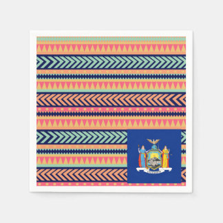Colorful New York Flag Box Standard Cocktail Napkin