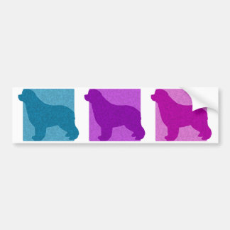 Colorful Newfoundland Silhouettes Bumper Stickers