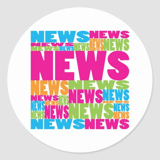 Colorful News Classic Round Sticker