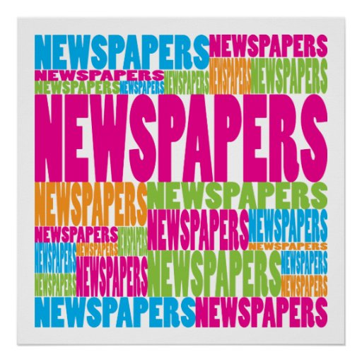 Colorful Newspapers Poster