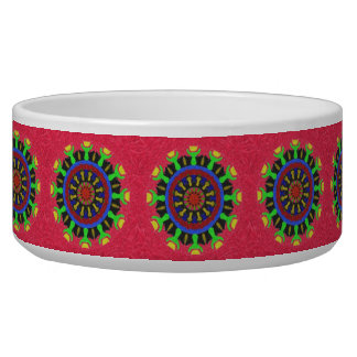 Colorful nice abstract pattern pet water bowl