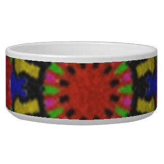 Colorful nice abstract pattern pet bowls