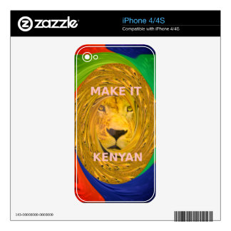 Colorful Nice and Lovely Make it Kenyan Skin For iPhone 4S