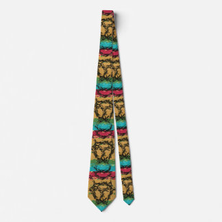 Colorful nice cool pattern neck tie