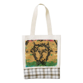 Colorful nice cool pattern zazzle HEART tote bag
