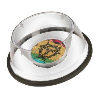 Colorful nice pattern pet bowl